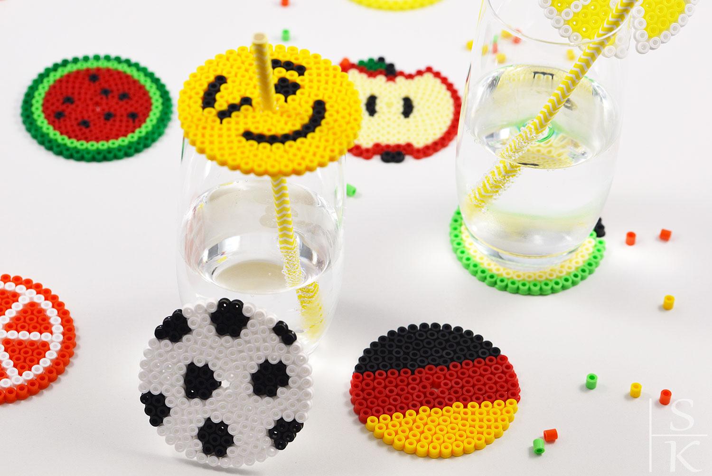 DIY Glas-Verzierung mit Bügelperlen