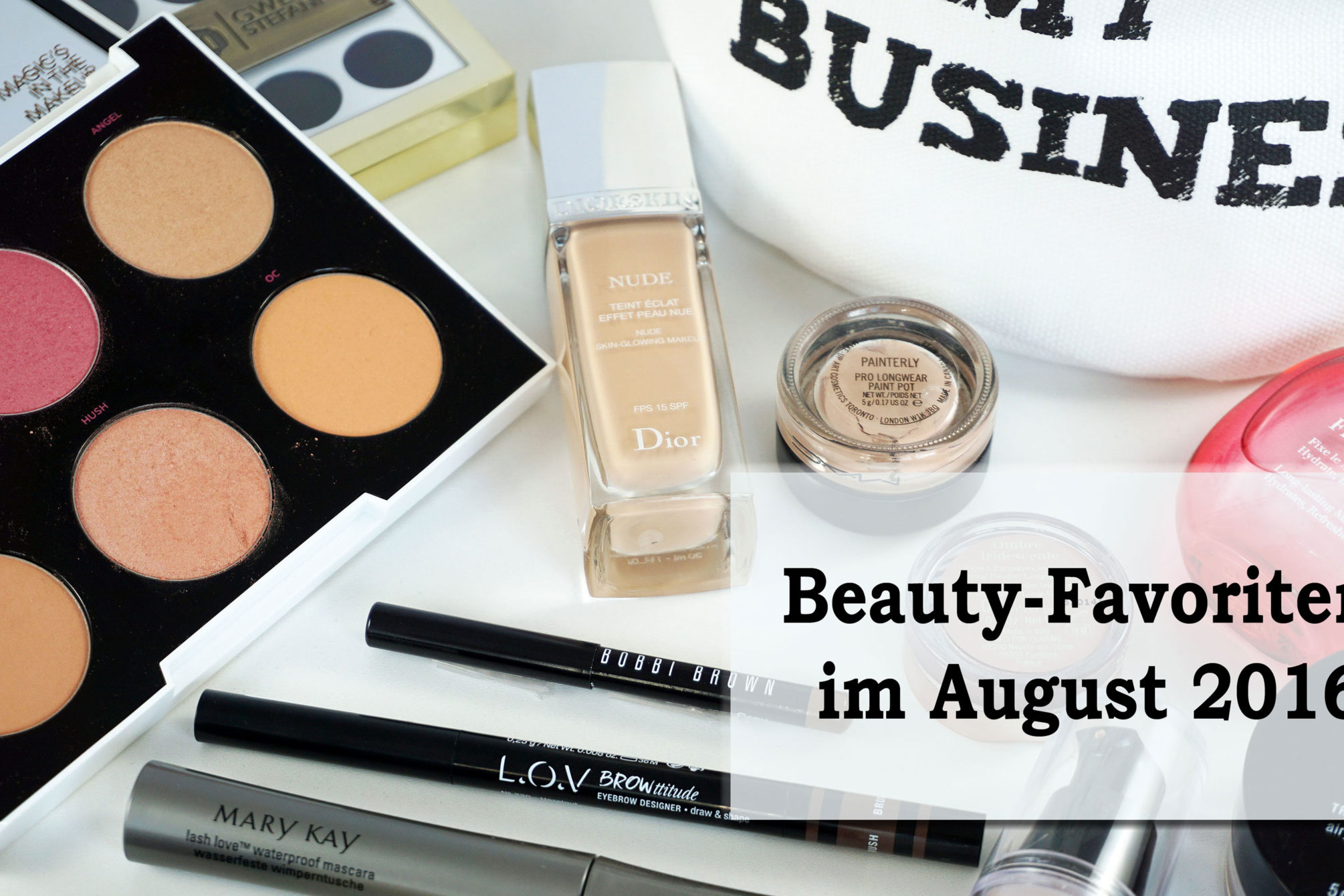 Beauty-Favoriten im August 2016