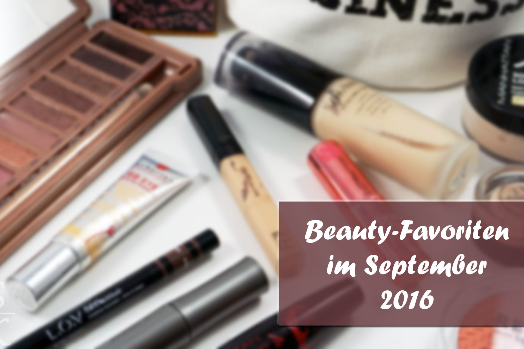 Beauty-Favoriten September 2016