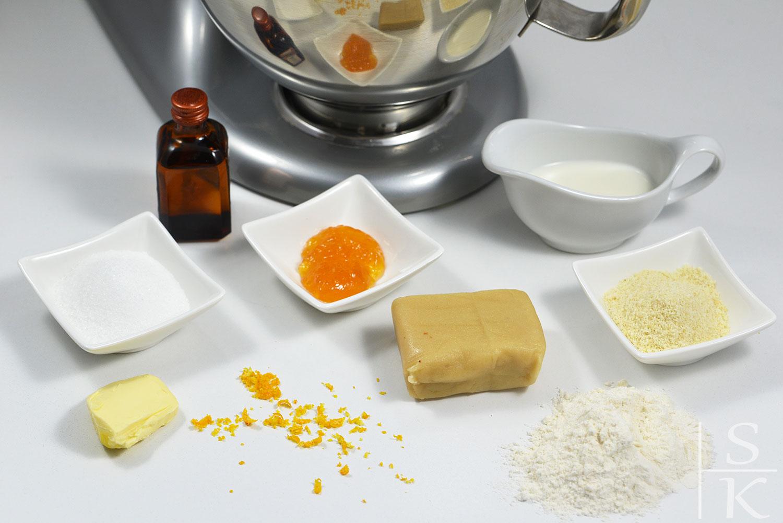 Rezept für Orangen-Marzipan-Sterne