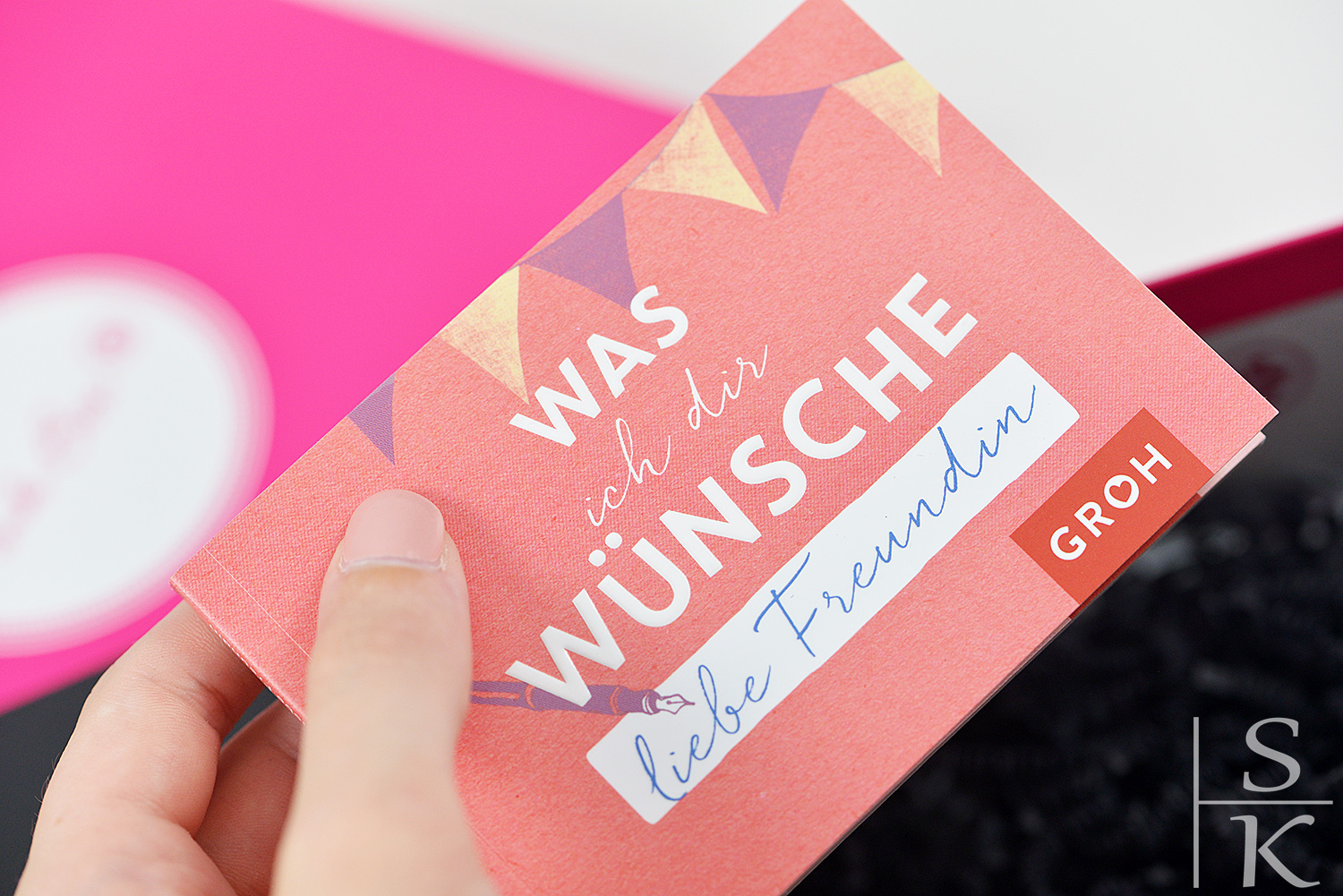 Unboxing Pink Box August 2017 Freundinnentag @Horizont-Blog, Saskia-Katharina Most